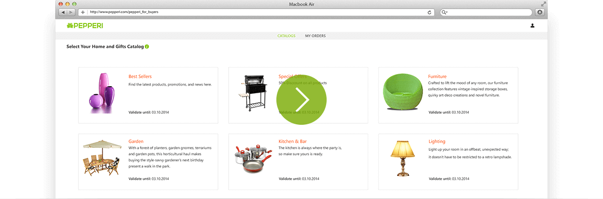 Pepperi Mobile Storefront - B2B e-commerce in action