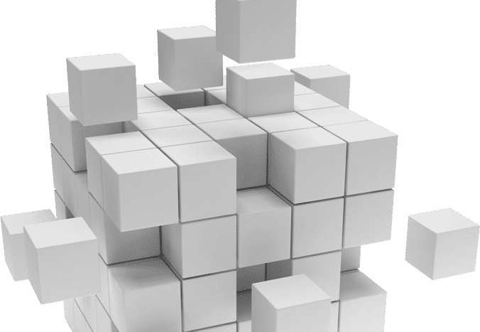 stack of white blocks for pepperi integration concept