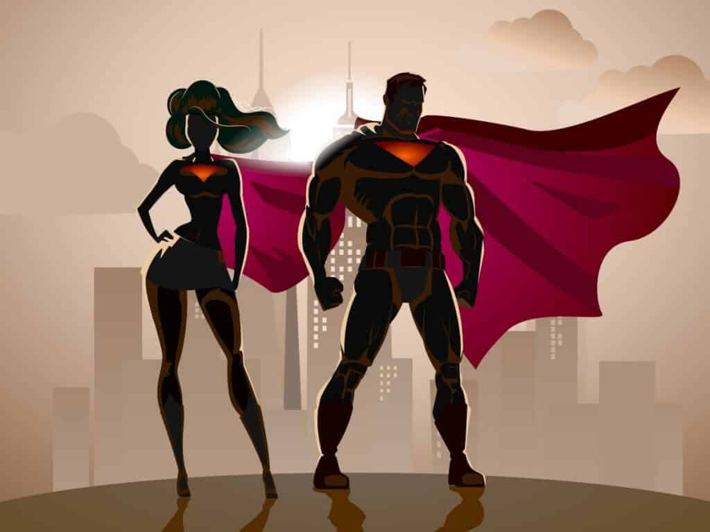 superheroes using field sales software